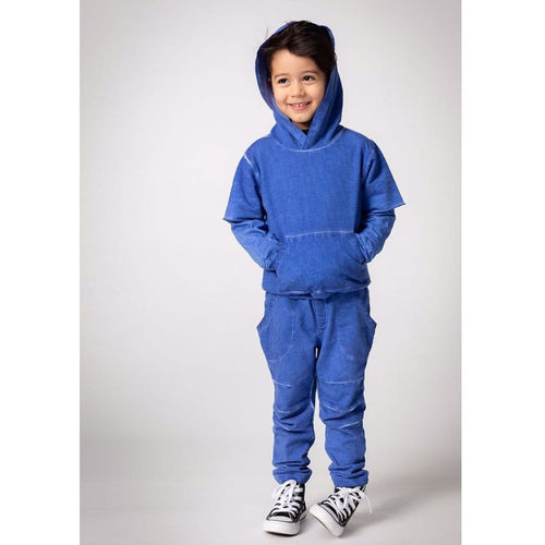 Joah Love blue distressed knit pants for boys