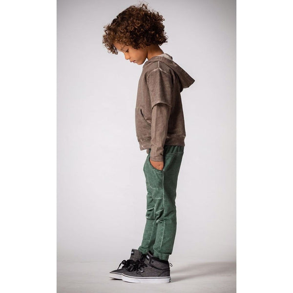 Joah Love green distressed knit boys joggers