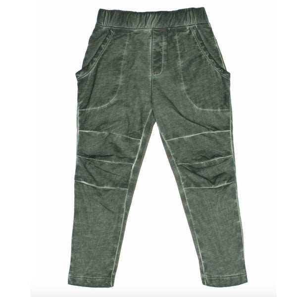 Joah Love green distressed knit boys pants