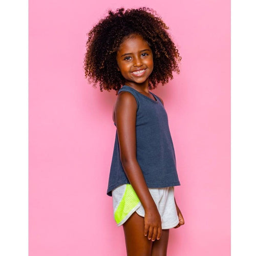 Joah love black sleeveless girls top