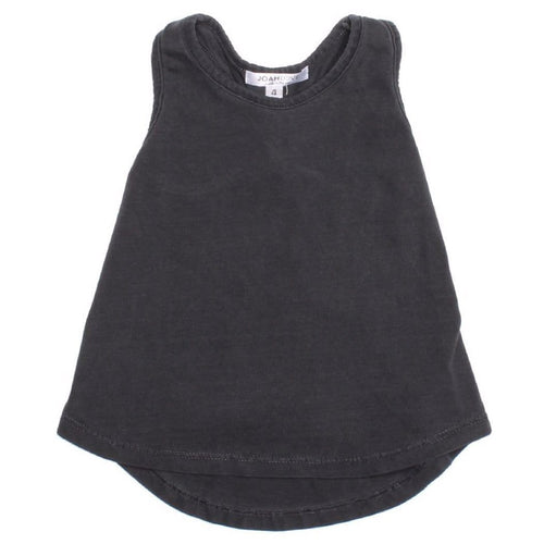 Joah love black sleeveless girls tank top