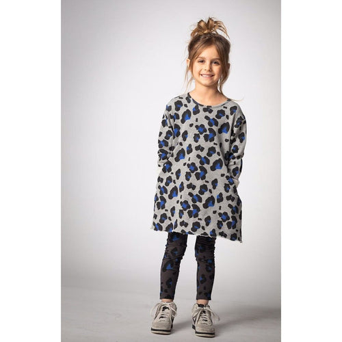 Joah Love cheetah print heather grey girls dress
