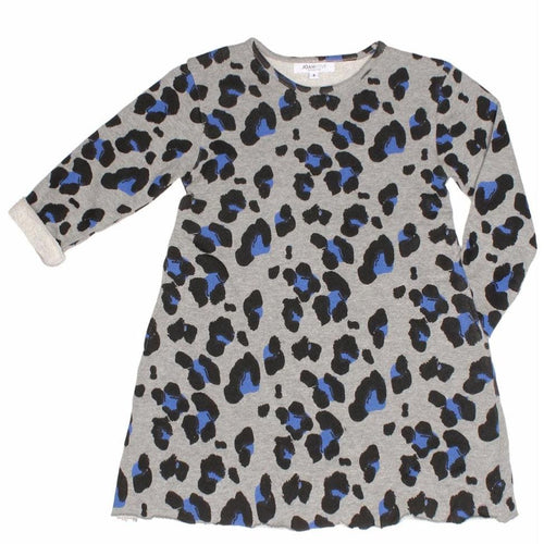 Joah Love heather grey cheetah print girls dress