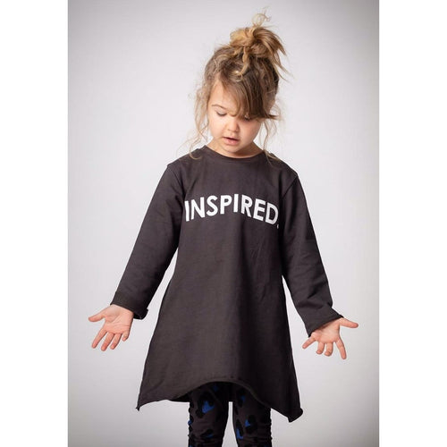 Joah Love grey long sleeve knit inspired dress for girls