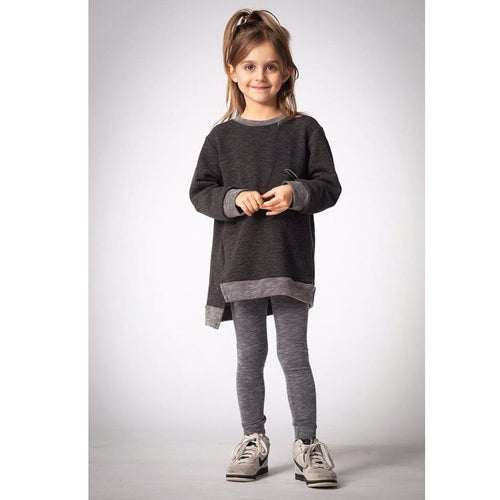 Joah Love black distressed tunic girls dress