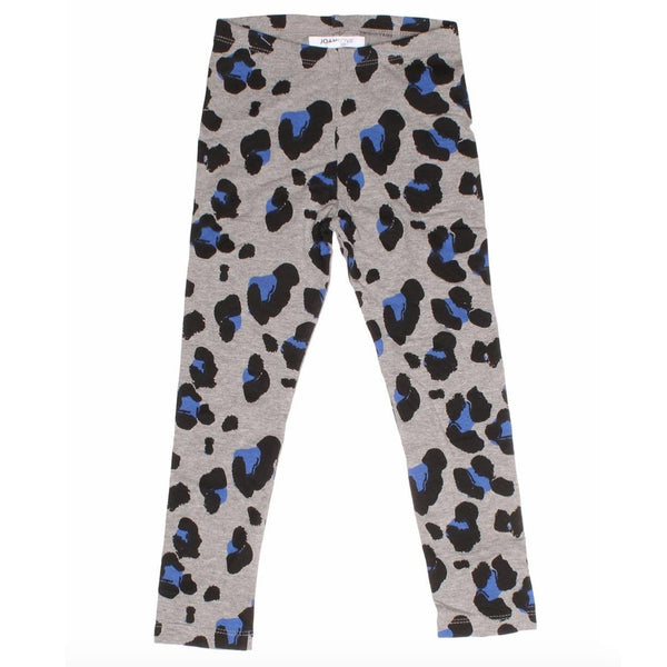 Joah Love heather grey cheetah print girls leggings
