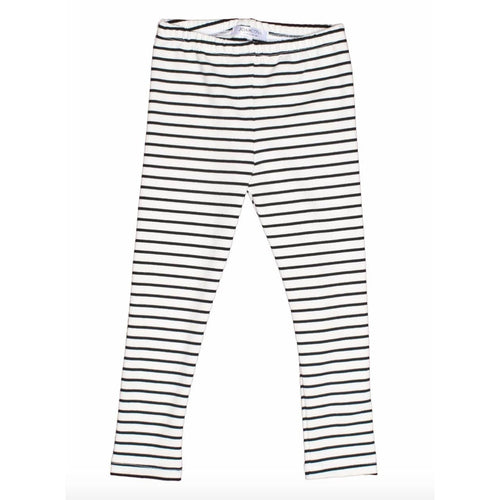 Joah Love black and white stripe girls leggings