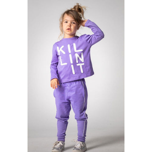 Joah Love lavender long sleeve killing it girls graphic t-shirt