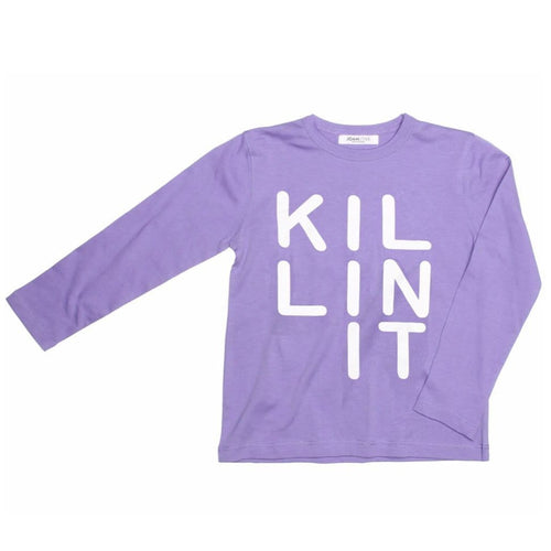 Joah Love lavender long sleeve killing it girls graphic tee