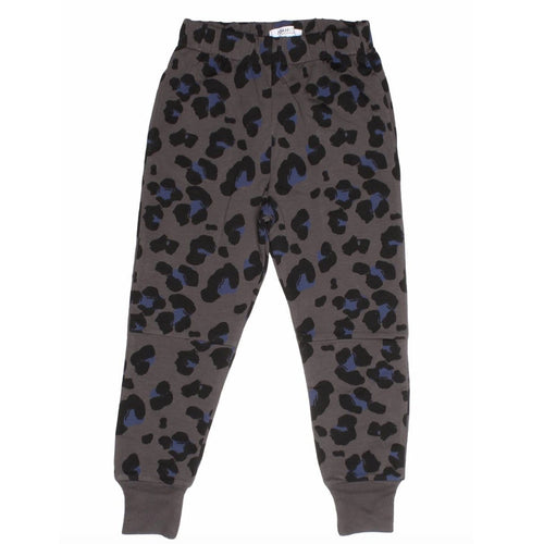Joah Love grey leopard print girls joggers