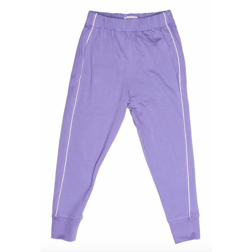 Joah Love lavender with white stripe girls joggers