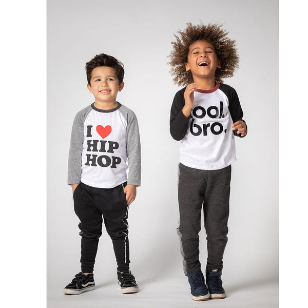 Joah Love hip hop baseball boys graphic t-shirt and pants