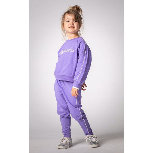 Joah Love lavender with white stripe girls sweatpants
