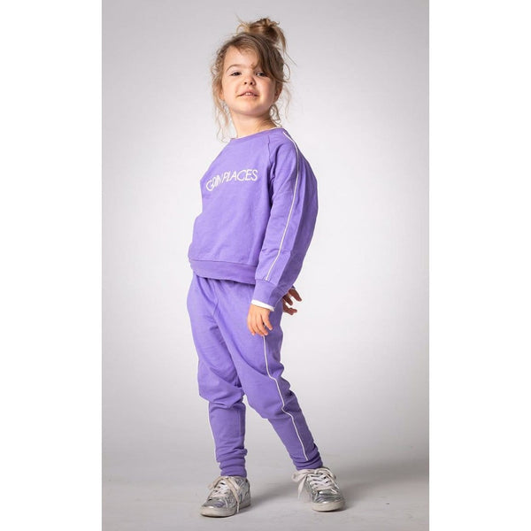 Joah Love lavender long sleeve graphic girls sweatshirt