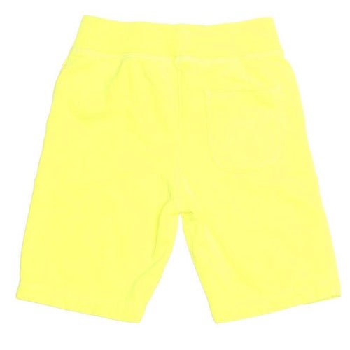 Joah love yellow neon jersey boys shorts