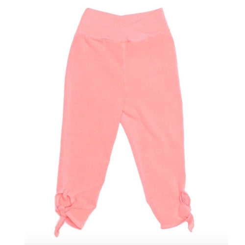 Joah love coral tie knit girls capri leggings