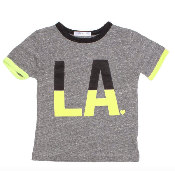 Joah Love grey short sleeve los angeles kids graphic tee