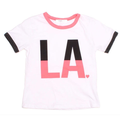 Joah love short sleeve los angeles girls graphic tee