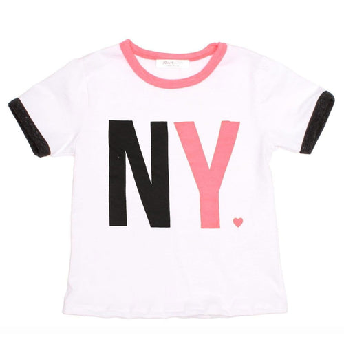 Joah love short sleeve new york girls graphic tee