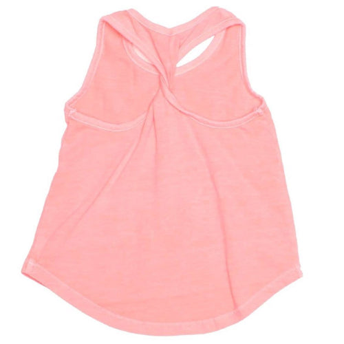 Joah love coral jersey girls tank top