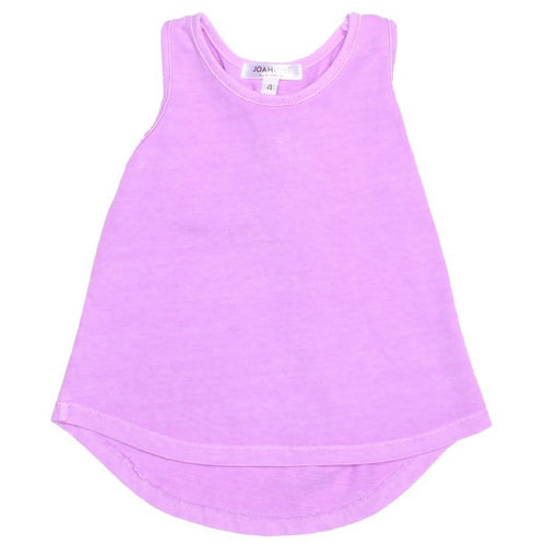 Joah love purple knit girls tank top