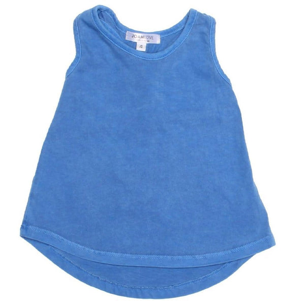 Joah love bright blue girls tank top