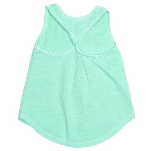 Joah love aqua jersey girls tank top