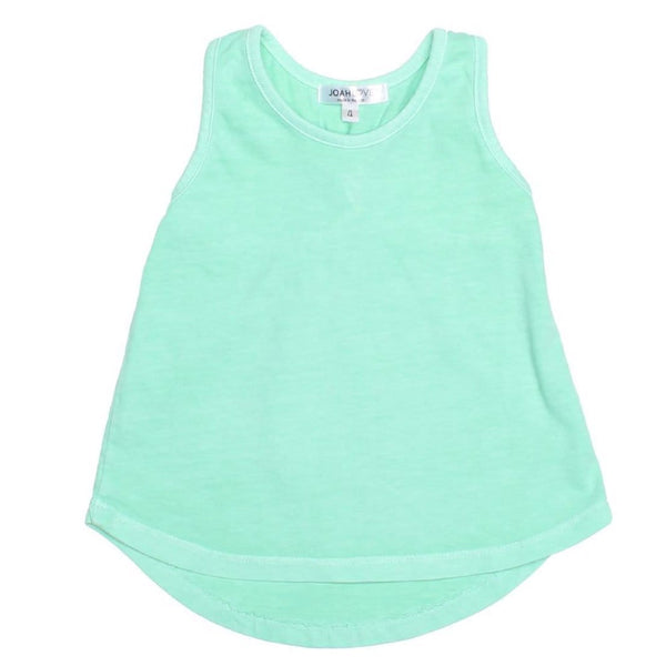 Joah love aqua knit girls tank top
