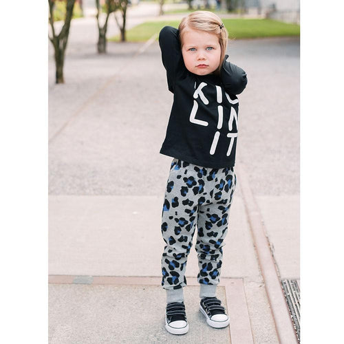 Joah Love grey leopard girls sweatpants