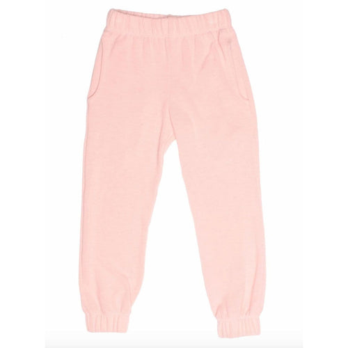 Joah Love light pink faux cashmere girls joggers