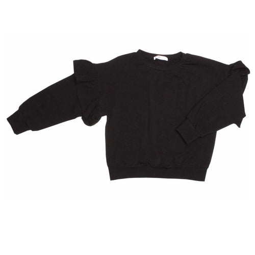 Joah Love black ruffle girls sweatshirt