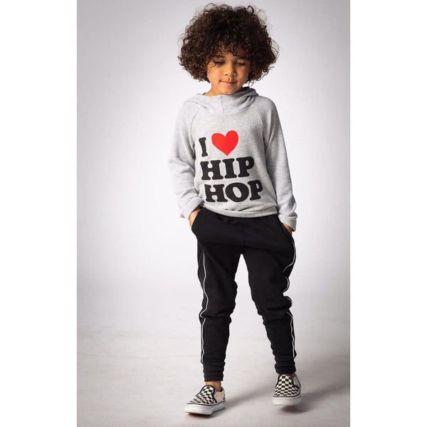 Joah Love heather grey girls graphic tee hoodie