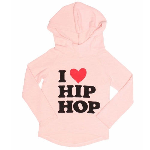 Joah Love pink long sleeve hip hop girls hoodie