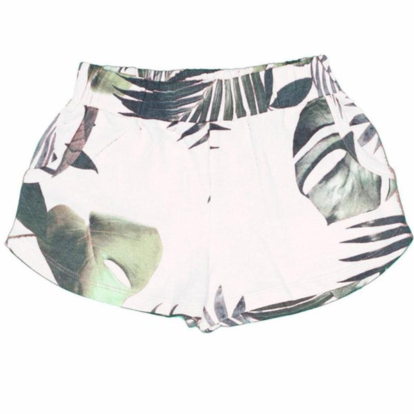 White palm printed girls shorts by Joah Love