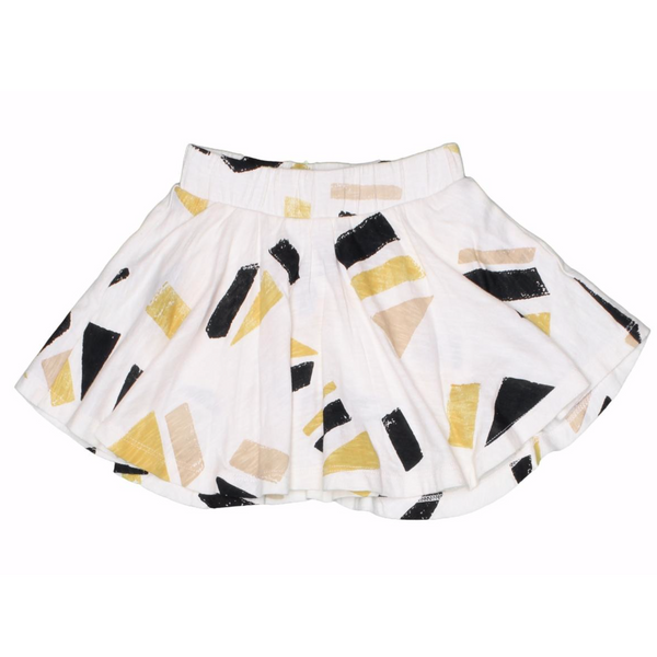 Shapes print girl knit skort