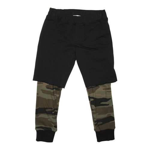 Joah Love Black and Camo Layered Boys Shorts with Pants