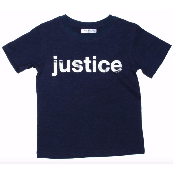 Boys navy blue justice graphic tee