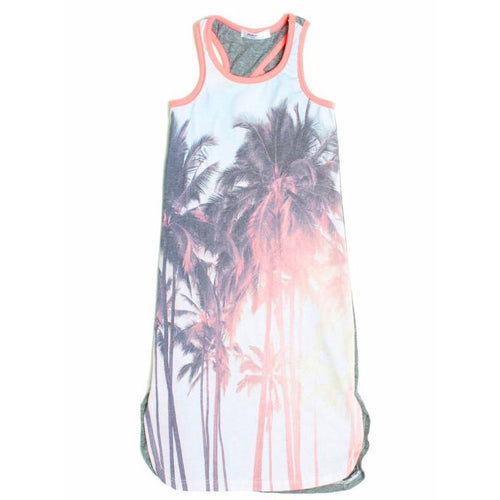 Girls tank palm tree photorealistic dress