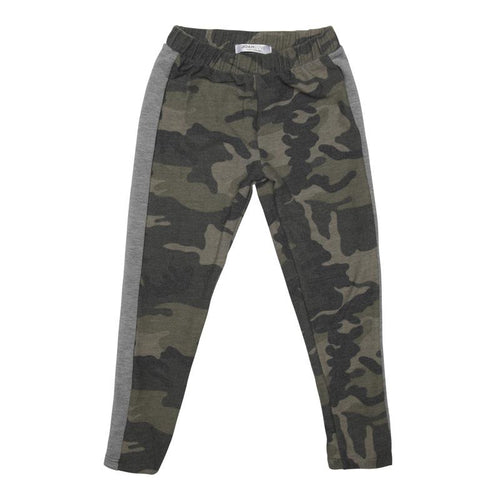 Joah Love Camo Boys Pants with Grey Stripe