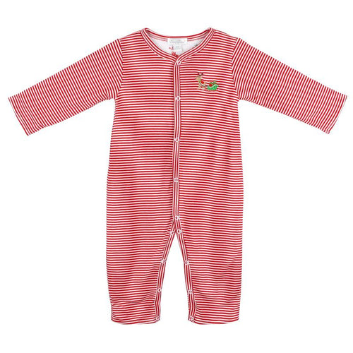 Baby girl red stripe romper