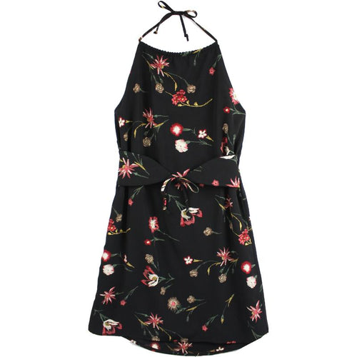 Tween girl party dress black with flowers