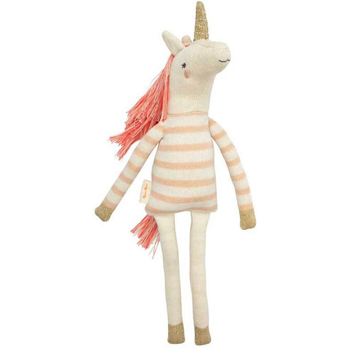 Knitted unicorn doll by Meri Meri