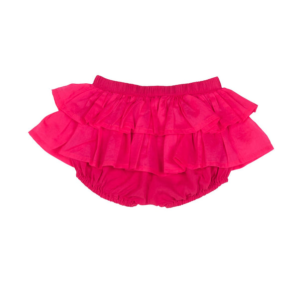 Deep Pink Frilled Bloomers by Little Wings (Preorder) - Little Skye Children's Boutique