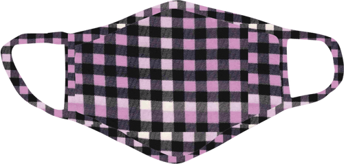 Stoopher Lilac Check Face Mask - Teen Size
