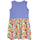 Little Skye Fruit Print Combo Dress (Preorder) - Little Skye Children's Boutique