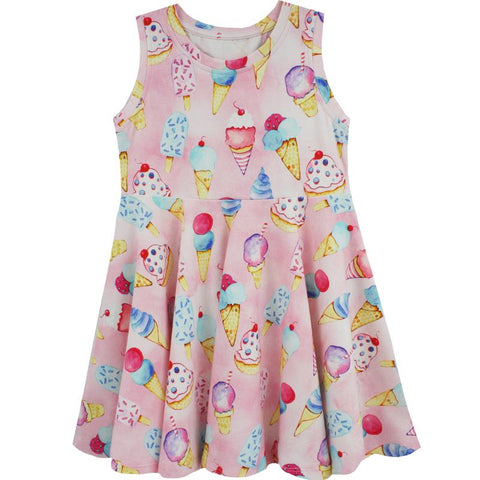 Pink Ice Cream Twirl Dress by Little Skye (Preorder)
