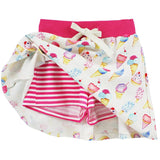 Ice cream girls skort with pink stripe shorts