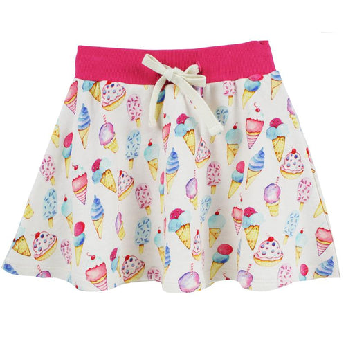 Girls ice cream skort with drawstring waist