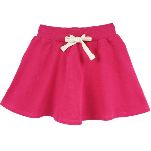 Pink girls skort with drawstring waist