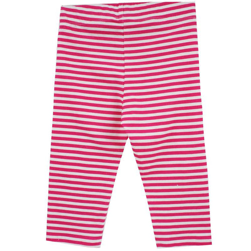 Little Skye Pink Stripe Capri Leggings (Preorder) - Little Skye Children's Boutique